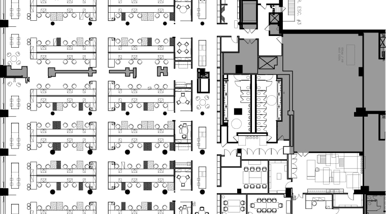 Floorplan of the Sullivan Center architecture, area, black and white, building, design, drawing, elevation, floor plan, font, home, line, plan, residential area, structure, technical drawing, text, urban design, white