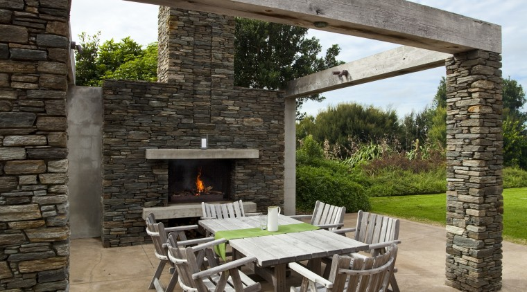 This is a pool landscape designed by Mark backyard, outdoor structure, patio, white