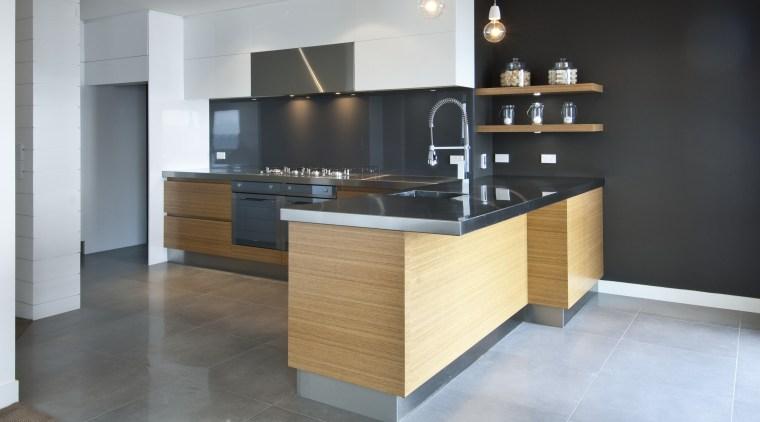Kitchen designed by Irene James of James Trent cabinetry, countertop, cuisine classique, floor, flooring, furniture, hardwood, interior design, kitchen, room, gray, black
