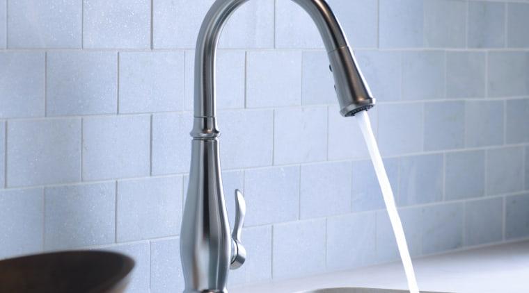 Kohler faucet bathroom, bathroom sink, plumbing fixture, product design, sink, tap, tile, teal