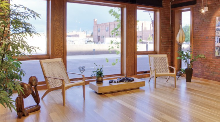 Warmboard provides and eco friendly, quiet and efficient deck, estate, floor, flooring, hardwood, home, house, interior design, laminate flooring, living room, property, real estate, window, wood, wood flooring, wood stain