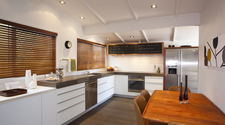 Yellow Fox were the designers for this renovation. cabinetry, countertop, cuisine classique, interior design, kitchen, real estate, room, gray, brown