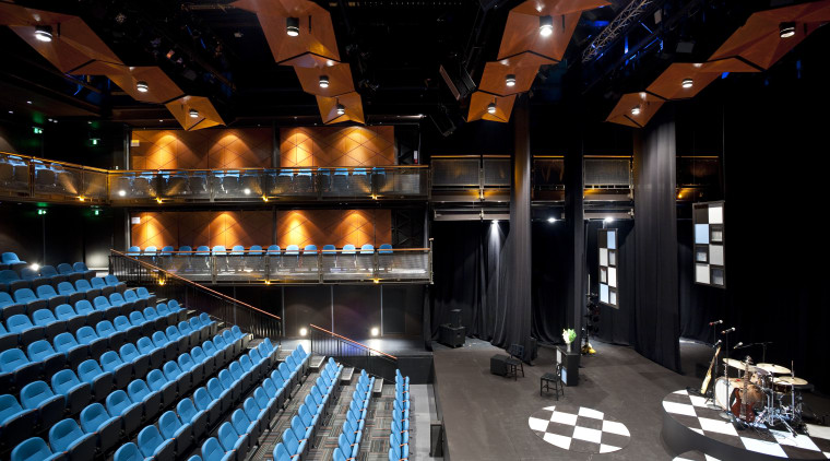 Here is a view of Auckland's Q theatre, auditorium, performing arts center, black