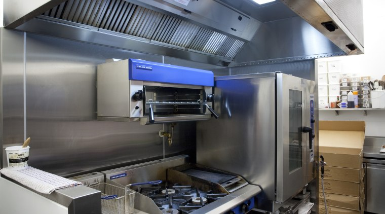 Southern Hospitality designed and installed this commercial kitchen kitchen, white, gray, black