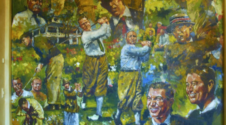 View of wall art. art, artwork, flower, mural, painting, brown