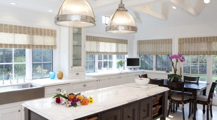 This kitchen was designed by Luis Viteri, it ceiling, countertop, flooring, interior design, kitchen, table, gray