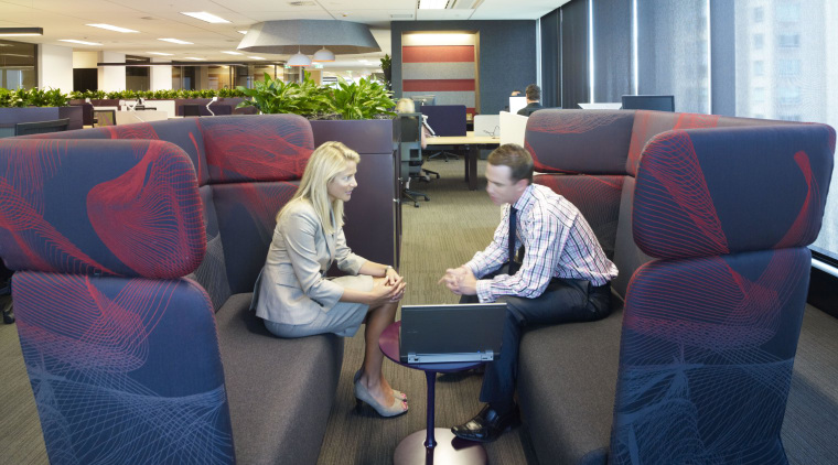 Seating area for meetings. chair, furniture, office, passenger, white, blue