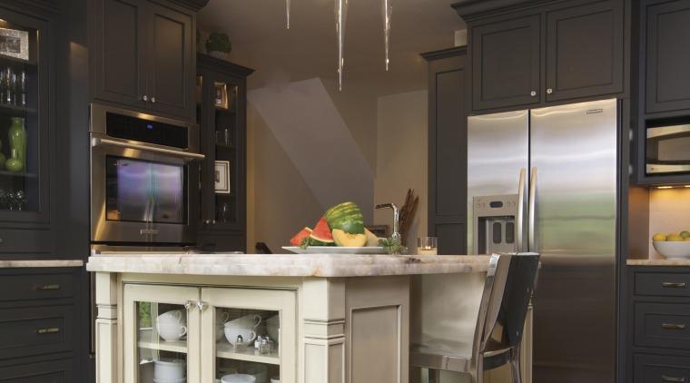 This kitchen was designed by Susan Brunstrum, Sweet cabinetry, countertop, cuisine classique, hardwood, home, interior design, kitchen, room, black, gray, brown
