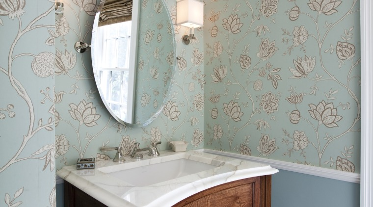 powder room aesthetic with touches of vibrancy and bathroom, ceiling, floor, home, interior design, product, room, tile, wall, gray