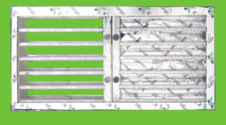 Intumescent fire dampers from Smooth-Air Products line, material, metal, product, white, green