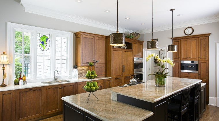 New cabinetry in this kitchen remodel features cornices cabinetry, countertop, cuisine classique, interior design, kitchen, real estate, room, white