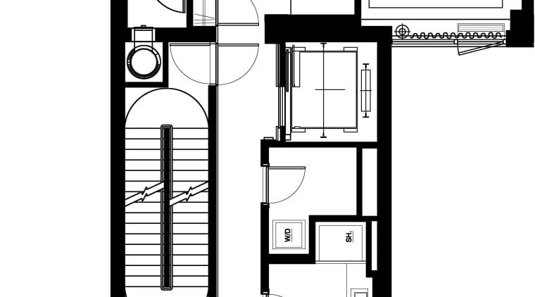 Contemporary apartment interiors don't have to be crisp, architecture, area, black and white, design, drawing, floor plan, font, line, monochrome, pattern, plan, product design, schematic, square, structure, text, white