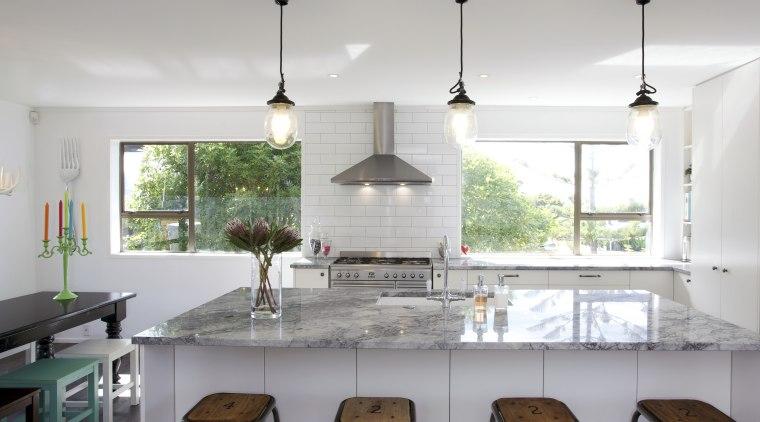 The owners chose a Smeg SUK92MX8 90cm range countertop, home, interior design, kitchen, real estate, room, table, gray