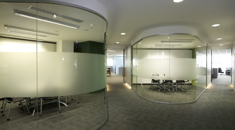 Glass walls enhance the sense of transparency in architecture, ceiling, floor, flooring, interior design, lobby, real estate, gray