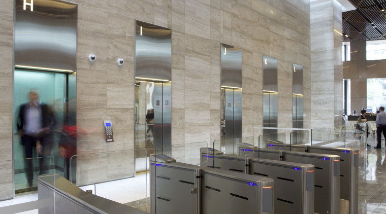 Raised expectations – Kone high-tech elevator solutions for ceiling, floor, interior design, gray