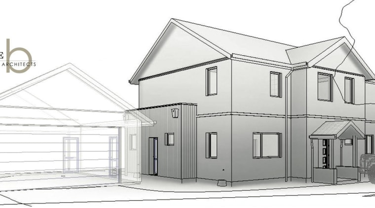 Healthy, warm and wise – passive house design architecture, black and white, building, design, elevation, facade, home, house, line, product design, property, real estate, residential area, structure, white