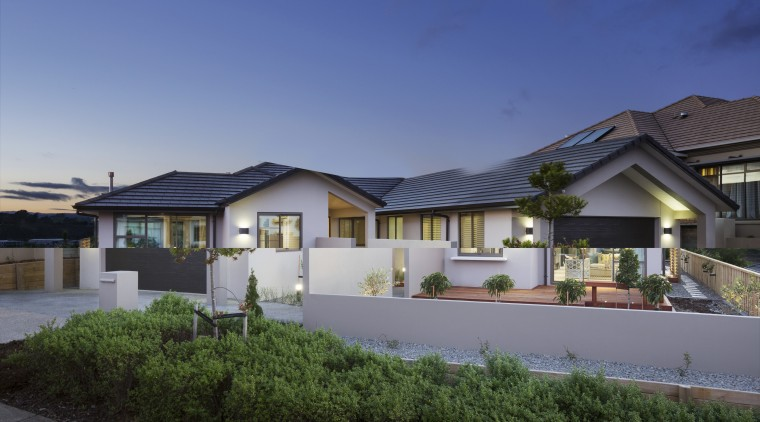 High-spec show home – the Ridgeview by Harwood apartment, cottage, elevation, estate, facade, home, house, neighbourhood, property, real estate, residential area, roof, sky, suburb, villa, window, blue