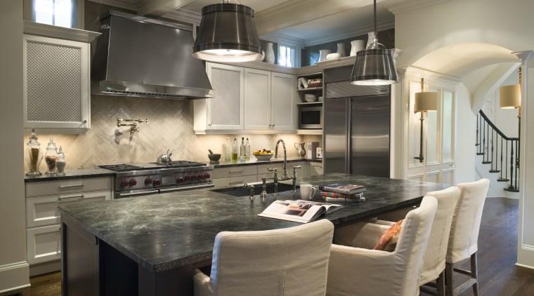Pièce de résistance by Design Galleria cabinetry, countertop, cuisine classique, interior design, kitchen, room, gray