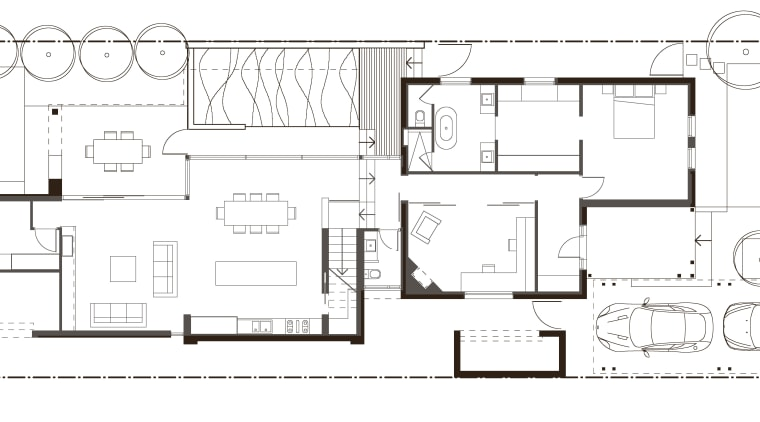This Edwardian villa, built in the 1900s, retains architecture, area, artwork, black and white, design, diagram, drawing, facade, floor plan, font, home, line, line art, pattern, plan, product, product design, residential area, square, structure, technical drawing, text, white