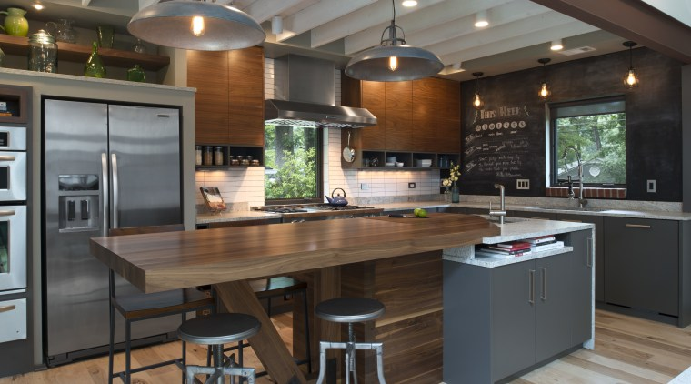 Simple cabinet frames, an efficient use of space cabinetry, countertop, cuisine classique, hardwood, interior design, kitchen, gray, brown