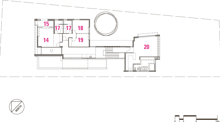 Modernist suburban new home area, design, diagram, drawing, floor plan, font, line, plan, product, product design, square, text, white