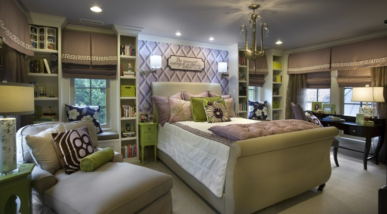 This children's bedroom provides plenty of places to ceiling, estate, furniture, home, interior design, living room, real estate, room, brown, gray