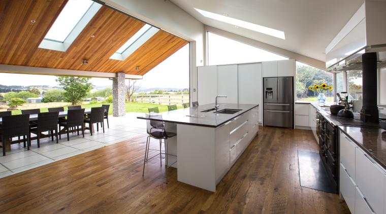 Contemporary new kitchen by Kitchen Link countertop, floor, flooring, hardwood, house, interior design, kitchen, laminate flooring, real estate, wood flooring, white