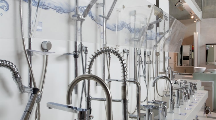 Innovative high-quality bathroomware glass, gray, white