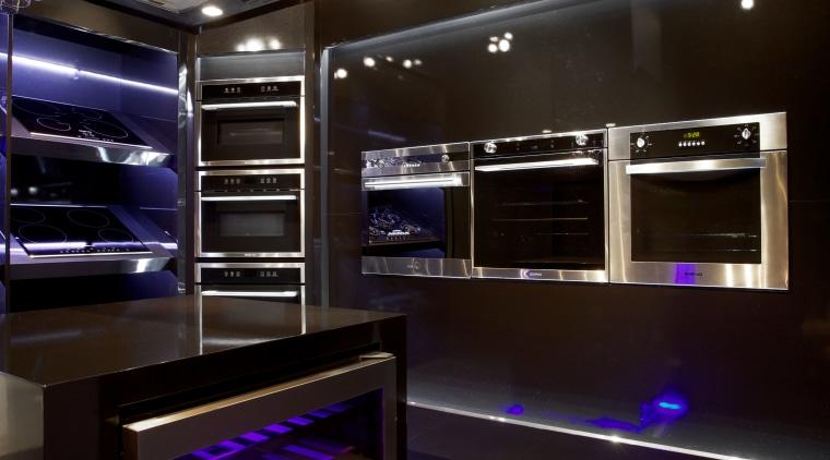 Italian designed appliances by Eisno Lifetech architecture, ceiling, interior design, kitchen, lighting, black