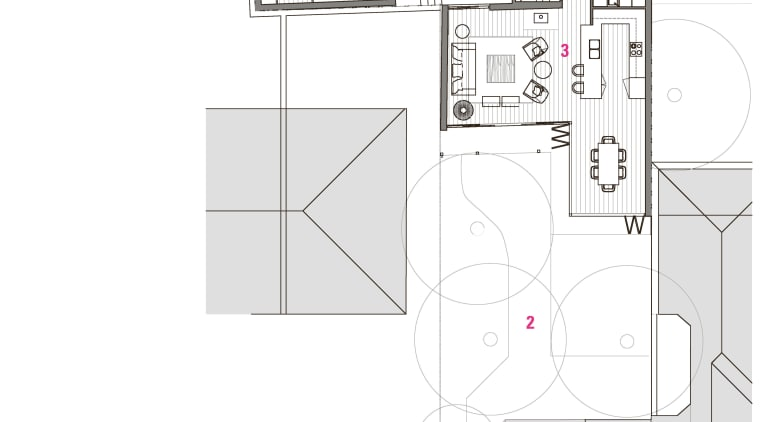 Legend for a renovated house by Stephen Rofail: angle, architecture, area, design, diagram, drawing, elevation, floor plan, house, line, plan, product, product design, schematic, structure, white