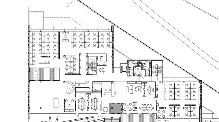 This boutique office development on a brownfields site architecture, area, artwork, black and white, design, diagram, drawing, elevation, facade, floor plan, font, home, land lot, line, line art, plan, product design, residential area, structure, suburb, technical drawing, urban design, white