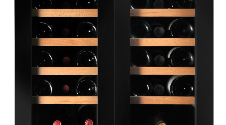 A collection of fine wine shouldn't be relegated home appliance, product, black