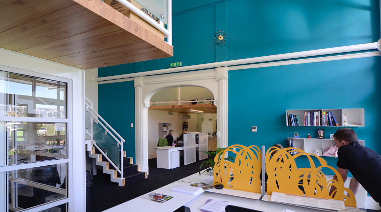 The project, designed by architect Ian Butcher, included architecture, interior design, teal