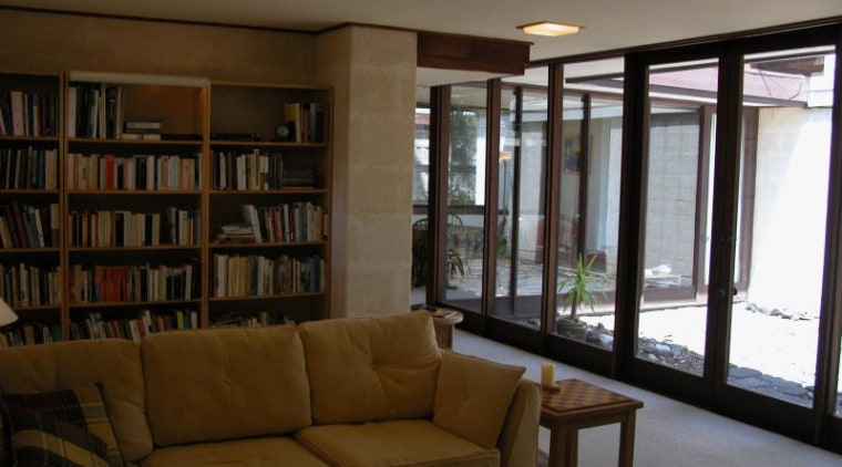 Before the renovation to this interior, bookcases covered interior design, living room, property, real estate, window, brown