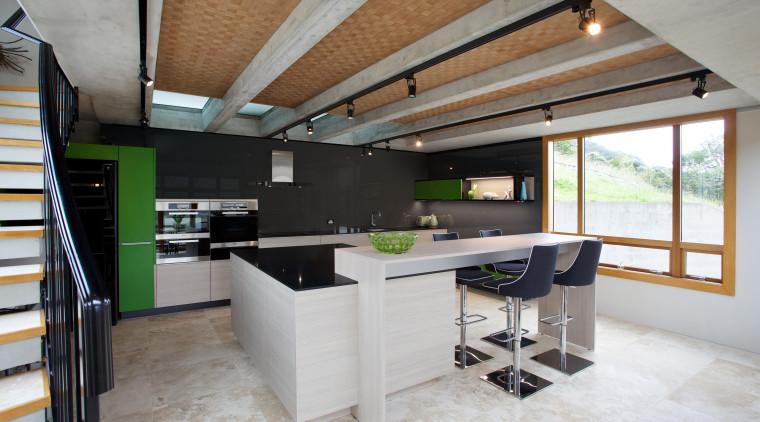 This Poggenpohl kitchen by designer Lara Farmilo is architecture, countertop, house, interior design, kitchen, loft, gray