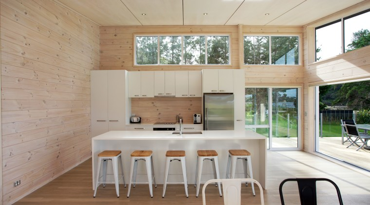 The owners of this new Lockwood holiday home architecture, floor, home, house, interior design, kitchen, real estate, table, window, gray