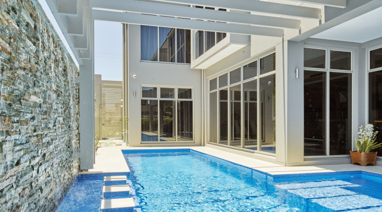 Making a splash – guests couldn't fail to condominium, daylighting, estate, home, leisure, leisure centre, property, real estate, swimming pool, water, gray, teal