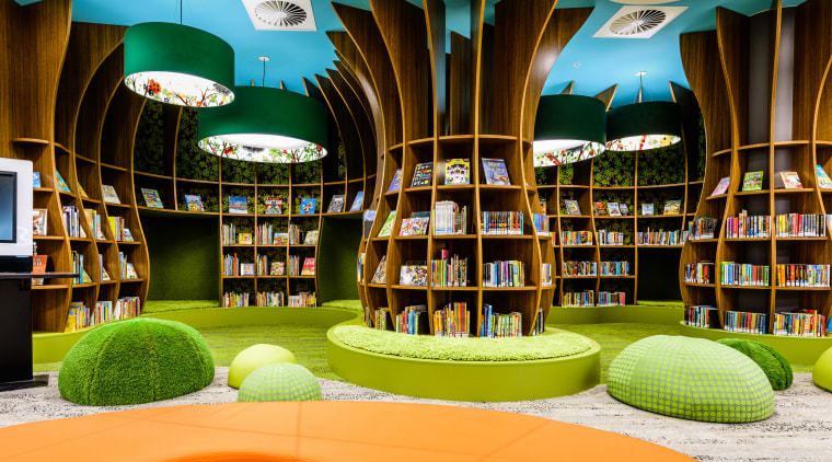 Trees of learning – any child would gravitate institution, interior design, library, product, public library