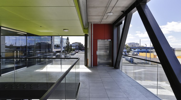 The glass back on the new high profile architecture, building, daylighting, gray