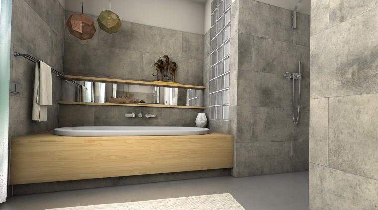 Ceramin Vario tiles were glued straight over existing floor, flooring, furniture, interior design, tile, wall, gray