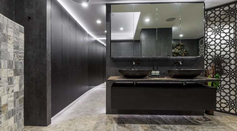 Floating on high  the cantilevered nature of architecture, ceiling, floor, interior design, gray, black