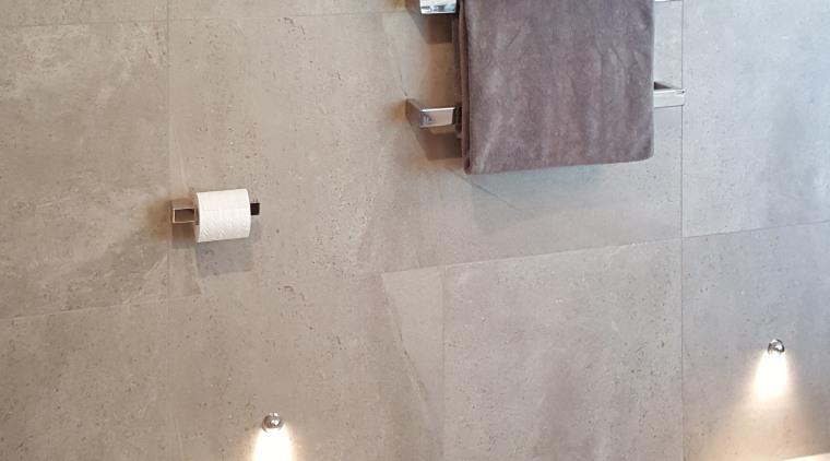 Features of this bathroom include individual DC Short floor, flooring, lighting, plumbing fixture, tap, tile, wall, gray