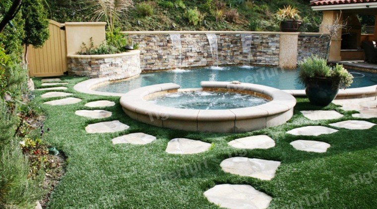 01846 Wmpoolandpavingstonescopy backyard, courtyard, estate, garden, grass, landscape, landscaping, lawn, leisure, outdoor structure, plant, property, swimming pool, water, water feature, yard, green