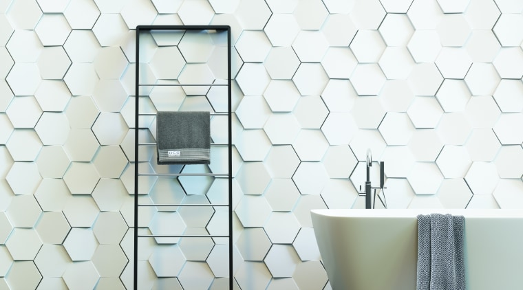 Dcs Porton Hexatile Cmyk floor, flooring, interior design, tap, tile, wall, wallpaper, white