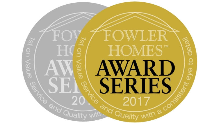 See all Awards here http://www.fowlerhomes.co.nz/news-and-media/awards/ brand, font, label, logo, product, yellow, white, orange
