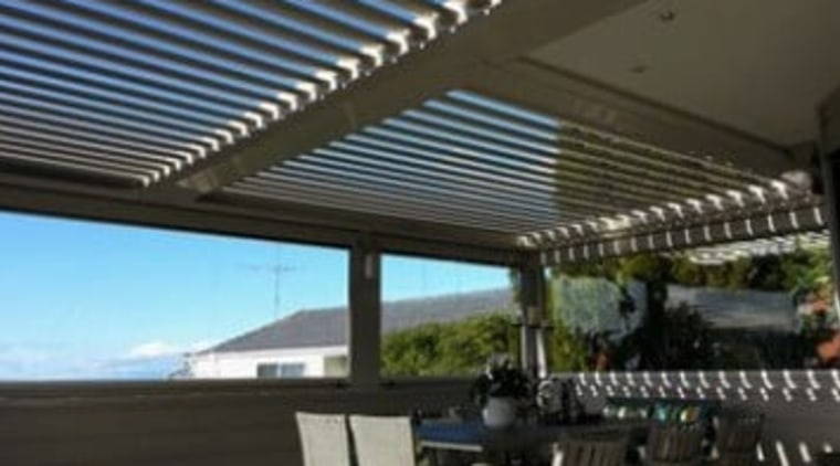 Johnson Couzins Limited View3 outdoor structure, real estate, roof, shade, black