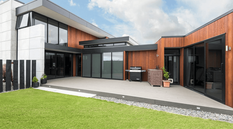 With a strong entertaining and family focus, the architecture, elevation, estate, facade, home, house, property, real estate, residential area, white