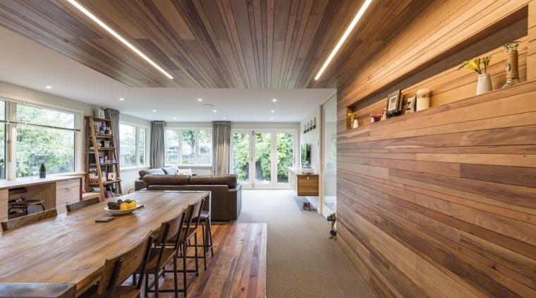 Renovation Creates Large Open Plan Living Space And ceiling, daylighting, estate, floor, flooring, hardwood, home, house, interior design, living room, property, real estate, wood, wood flooring, brown