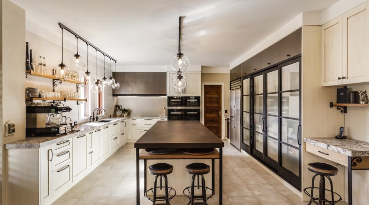 Congratulations to Damian Hannah from German Kitchens, winner cabinetry, countertop, cuisine classique, interior design, kitchen, real estate, gray