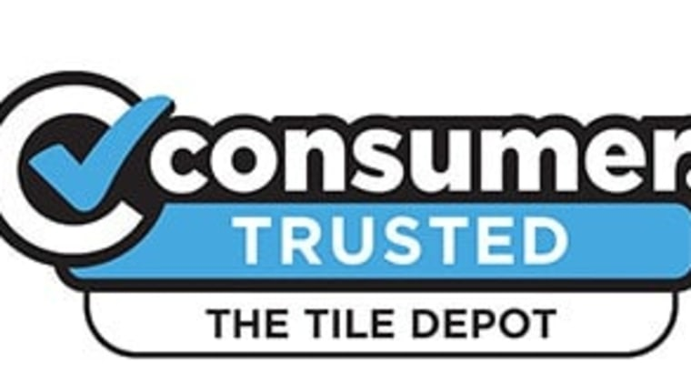 The Tile Depot View area, banner, brand, clip art, font, line, logo, product, sign, signage, technology, text, white